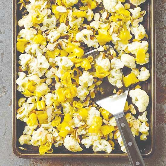 Roasted Cauliflower with Pepperoncini