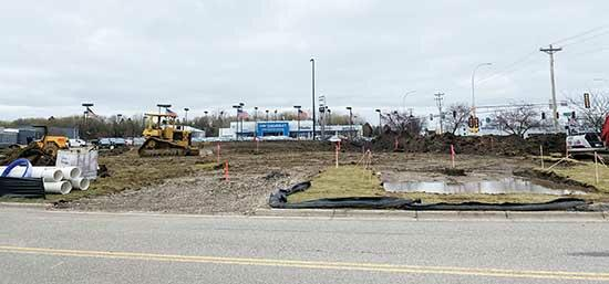 "Despite last week's rainy weather, construction has begun at the site of the future Caribou Cabin in Buffalo. Located off of Hwy 55 and 1st St. NE, the building will be a small ""cabin,"" offering coffee and products to customers via drive-thru only,..."