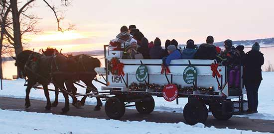 "The Buffalo Chamber of Commerce's ""Deck the Halls"" event was a smashing success this year, complete with wagon rides, hot cocoa, smiles with Santa, and more."