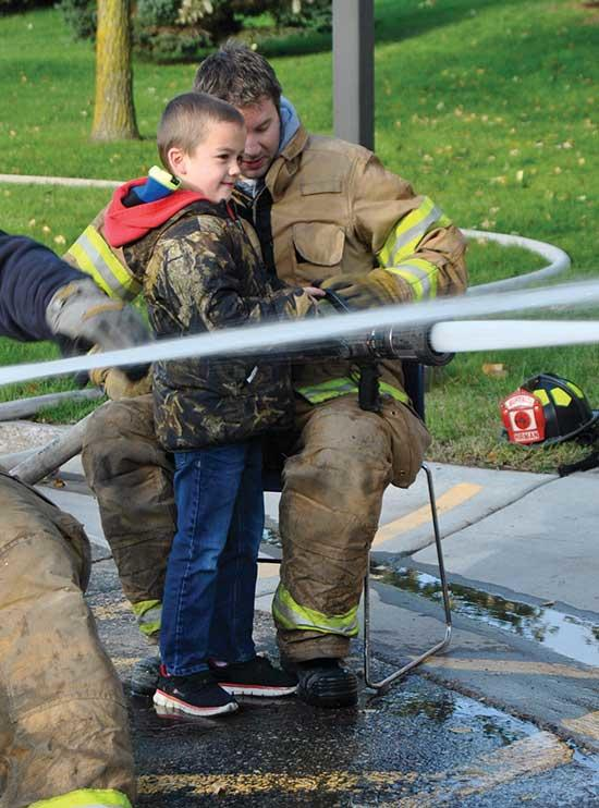 It was a brisk, sunny morning on Saturday, October 13 for the Buffalo Police and Fire Departments' open house events. The city of Buffalo community was invited to the fire department (east of town on Atlas Avenue NE) and the downtown police station...