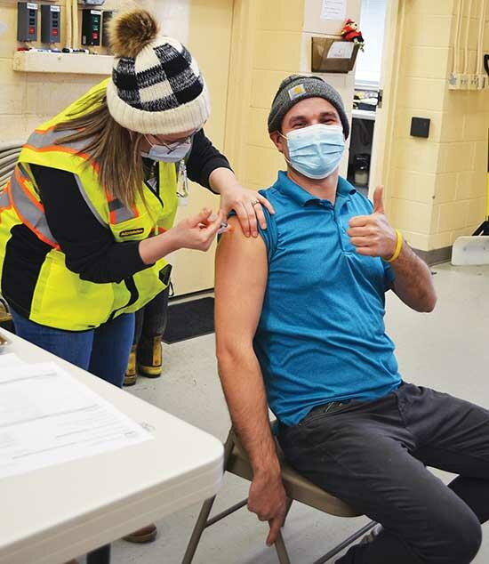 Wednesday, Jan. 6 was the second day Wright County Public Health workers were at the Centennial Park Fire Station in Buffalo to administer COVID-19 vaccinations to local emergency medical services staff. Three vehicles at a time pulled into an empty...