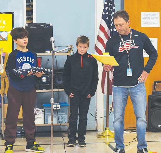 Fifth grade teacher Steve Bratulich was the one who had discovered a carefully-boxed American Flag in a Parkside Elementary closet. Inside the box was a letter describing where the flag had been flown. The flag was presented to Parkside in 2008 from...