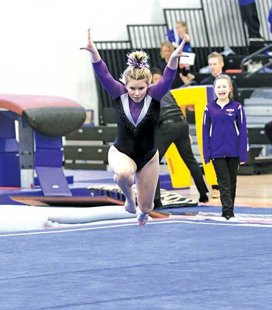 In a blink of an eye, Buffalo junior Madi Peters went from disappointed to crying.Three times she reached the podium at last Saturday's Section 8AA Gymnastics Championship at St. Cloud Tech, but all three times she walked back to her teammates...