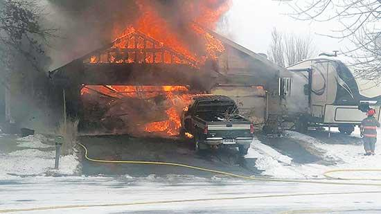 Last Saturday morning, December 1, fire destroyed an attached garage and all of its contents in Montrose.According to Montrose Fire Chief Kevin Triplett, the Montrose Fire Department was called at 10:25 a.m. for a report of an attached garage fire...