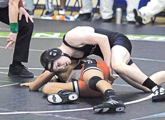 The Buffalo wrestling squad was this year's lone bracket buster in the Section 5-3A team tournament last Friday at St. Michael-Albertville Middle School West.With three of the top-four seeds advancing to the semifinals, it was No. 6 seed Buffalo...