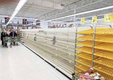 COVID-19 has negatively impacted many parts of society. One such area is food. By mid-afternoon on Sunday, it was hard to find bread on the shelves at any of the grocery stores around Buffalo. Cub Foods was no exception. (Submitted photo)